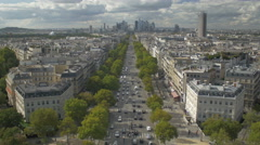 Paris arc of Triumph - top view Stock Footage
