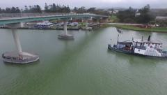 Paddle steamer River Murray Hindmarsh Island Bridge Stock Footage
