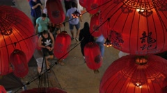 Lampions in Petaling street,Kuala Lumpur,Malaysia Stock Footage