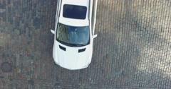 Video footage shot on quadrocopter nadir of Kiev downtown Stock Footage