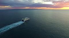 Kangaroo Island ferry at Cape Jervis SA Tourism Stock Footage