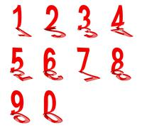 Numbers on white background, 3d render Stock Illustration