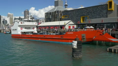 Auckland to Waiheke Island Car Ferry Departing - Sequence Stock Footage