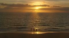 Sunset at Kamaole Beach Park III on Kihei, Maui, Hawaii Stock Footage