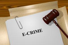 E Crime concept - stock illustration