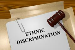 Ethnic Discrimination concept - stock illustration