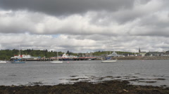 Timelapse of Stornoway waterfront Isle of Lewis Scotland Stock Footage