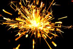 Christmas and newyear party sparkler - stock photo