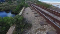 POV Railway Tracks of Historical railway Stock Footage