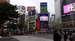 The most famous intersection in Asia Shibuya Tokyo Japan Stock Footage