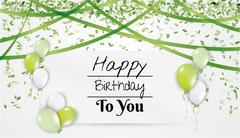 Birthday card with balloons Stock Illustration