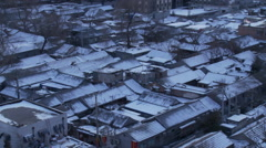 Traditional Beijing hutong in winter, China Stock Footage