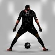 Soccer player ready to shoot Stock Illustration