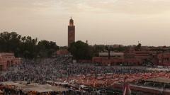 Djemma El Fna  square in Marrakesh Stock Footage