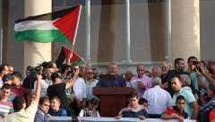Arab Israeli Muslim Mohammad Barakeh, an Israeli Arab politician Stock Footage