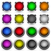 Set of color web buttons - stock illustration