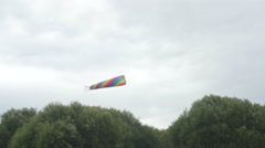 Kite in the form of an octopus flying in the sky Stock Footage