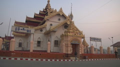 Buddhist monastery and the streets in Kengtung, Myanmar. Stock Footage
