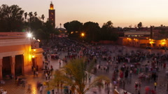 Djemma El Fna  square in Marrakech - stock footage
