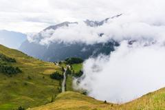The Grossglockner high Alpine road - stock photo
