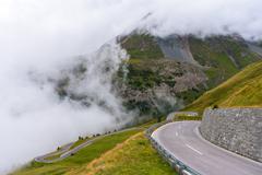 The Grossglockner high Alpine road Stock Photos