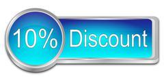 10% Discount Button Stock Illustration