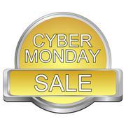 Cyber Monday Sale button - stock illustration