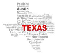 Texas State Word Cloud Piirros