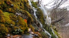 Waterfall, the overall plan. Russia. 1280x720 Stock Footage