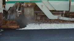 Laying asphalt pavement using special equipment Stock Footage