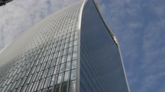Tilt down the side of 20 Fenchurch Street Stock Footage