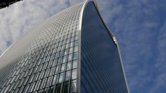 Shot looking up at 20 Fenchurch Street, - stock footage