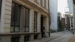 Tilt up the side of 20 Fenchurch Street Stock Footage