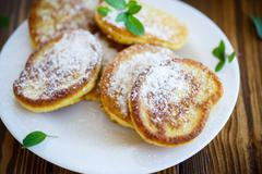 pumpkin pancakes - stock photo