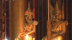 Golden statues in Kengtung, Myanmar. Stock Footage