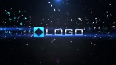 Dynamic 3D Logo Impact Shatter Particles Explosion Lights Intro Opener - stock after effects