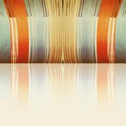 Multicolored threads with reflection and empty space as background. - stock photo