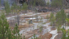 Panorama talc quarry. Russia. 4K Stock Footage
