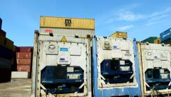 Container Freight Station Reefer Containers - stock footage