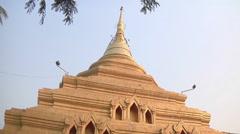 Golden stupa in Myanmar. Stock Footage