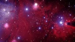 Space Nebula Flight Looped Background Stock Footage