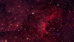 Space Multi Nebulae Flight Looped Motion Background Stock Footage