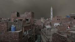 Lahore Walled City Lightning TimeLapse 1 Stock Footage