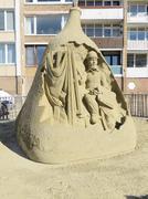 Sandsculpture of Toulouse Lautrec Stock Photos