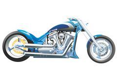 Motorcycle Wild Star side Stock Illustration