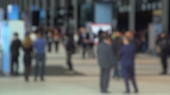 Anonymous people on exibition Stock Footage
