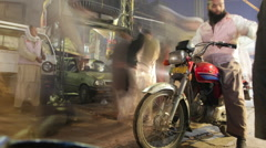 Lahore Walled-City Market Street TimeLapse 1 Stock Footage