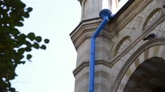 Church elements outside Stock Footage