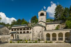 Cetinje old Monastery Nativity of the Blessed Virgin Mary, Montenegro - stock photo