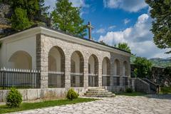 Old monastery buildings in Cetinje, Montenegro - stock photo